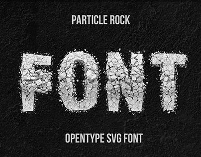 Particle Rock Font