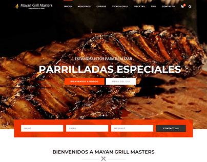 Diseño web propuesta Mayan Grill Mérida