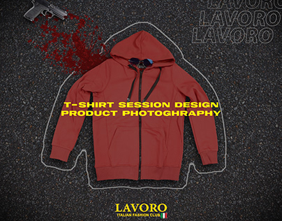 "Product Photography ""Lavoro T-shirt session design"""