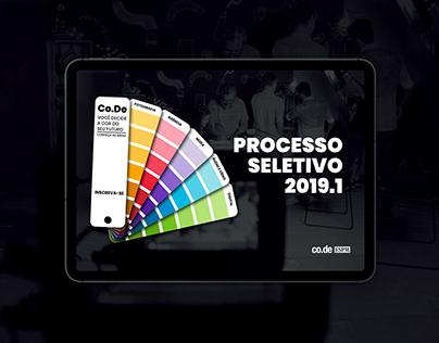 Processo Seletivo Co.De 2019.01