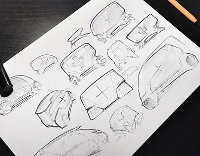 Random pen sketches | 2017