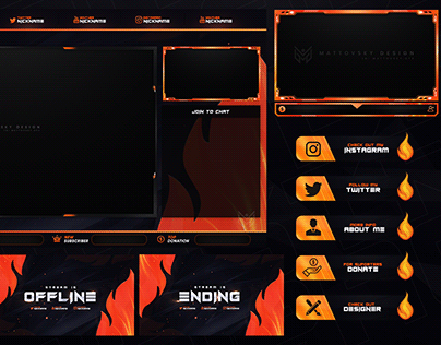 FLAME STREAM OVERLAY TEMPLATE + VARIOUS COLORS!