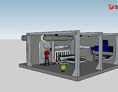 SketchUp- Spaceship Cabin