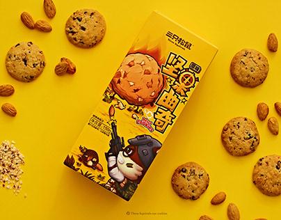 【三只松鼠·坚果曲奇】零食包装Cookies(snacks)packaging