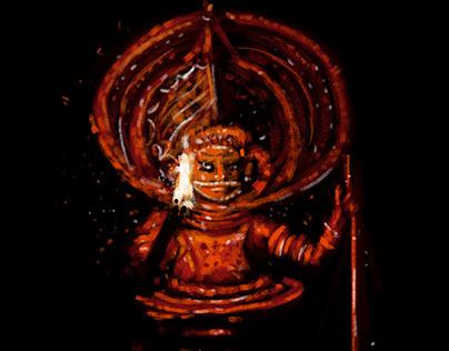 Muthappan Theyyam | Quick Sketch