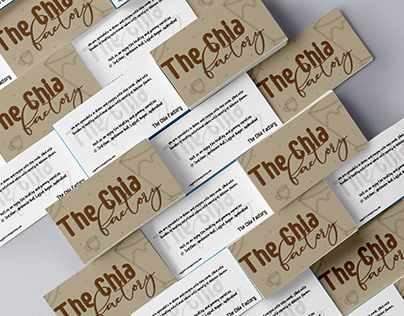 The Chia Factory - Business Card Design