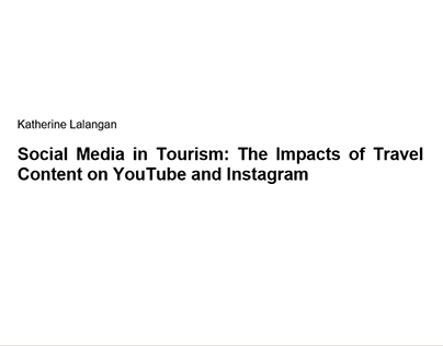 Bachelor's Thesis - Social Media in Tourism