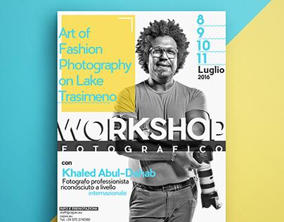 Poster workshop fotografico Khaled Abul-Dahab (Dubai)