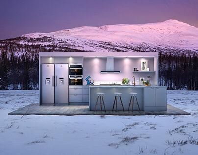 Electrolux kitchen CGI