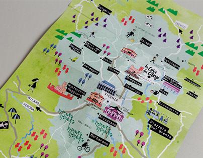 La Casa dei Ciliegi | Illustrated Map