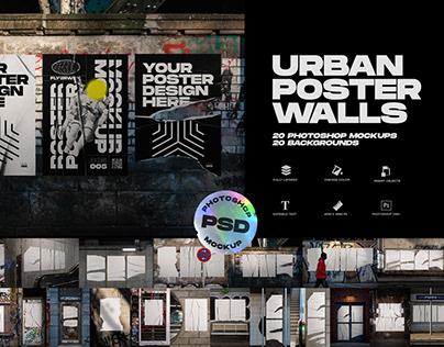 Urban Poster Wall Mockups