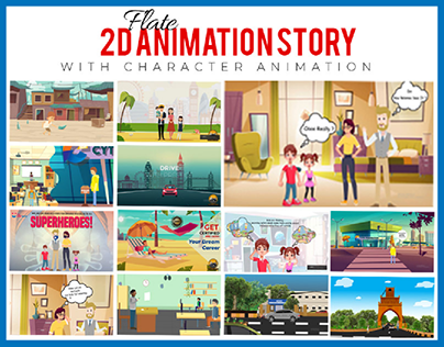 2D animations with characters