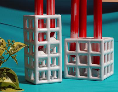 Matrix Candle Holders