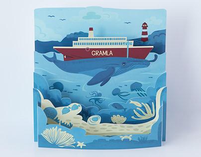 Gramla (paper cut-out)