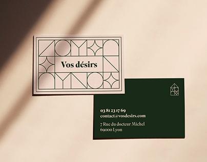 Vos désirs Restaurant visual identity ✨