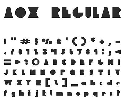 AOX v2 — A FREE FONT