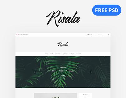 Risala | FREE Elegant Blog PSD Template