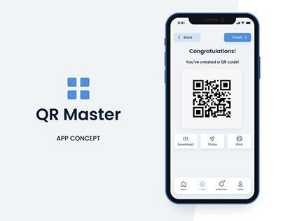 QR Master - QR Code Generator App concept
