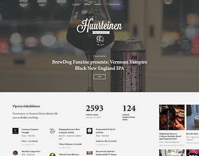 A professional craft beer blog - huurteinen.fi