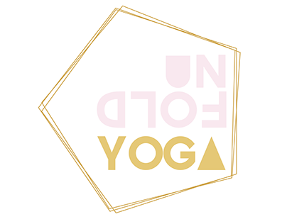Unfold Yoga logo and window display