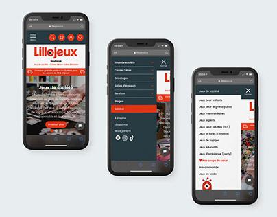 Lillojeux - Site web