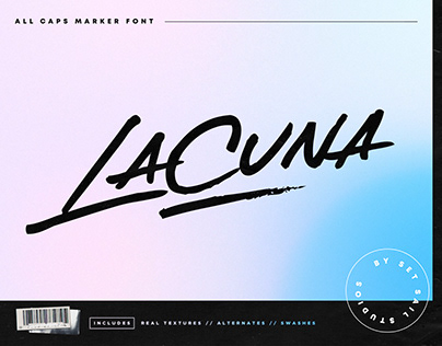 Lacuna Marker Font