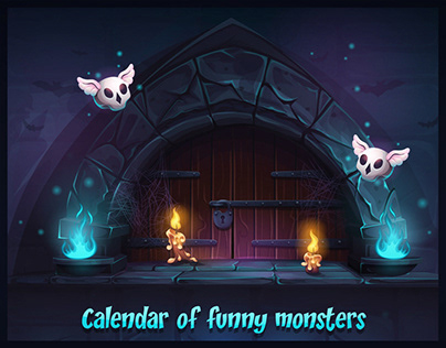 Calendar 2019 of funny monsters