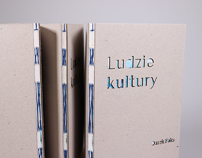 """Ludzie Kultury"" by Darek Foks. Open spine book"