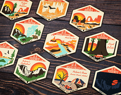 National Park Sticker Designs