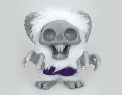 Goat Monster - Custom Handmade Toy Design & Invite