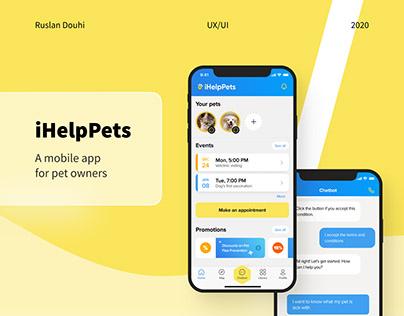 iHelpPets - helping pets via chatbot   UX/UI
