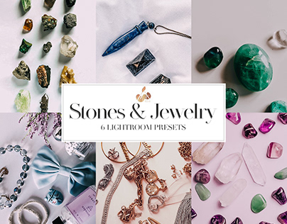 Stones & Jewelry Collection Lightroom Mobile Presets