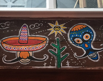 Yucca Fulham Mexican Mural Paintings