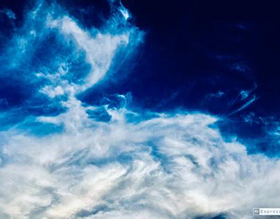 Cloudy blue sky (remake) 21/7/2021