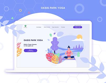 Oasis Park Yoga Landing page