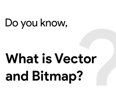 WHat is vector and bitmap?