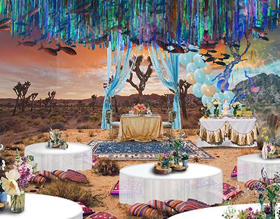 Underwater Themed Desert Wedding
