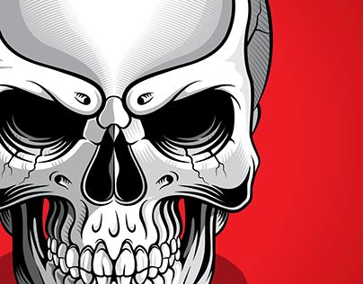 Skull Illustration Design Project