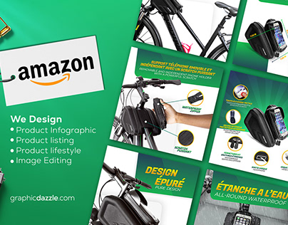 Amazon product listing images EBC A+ design infographic