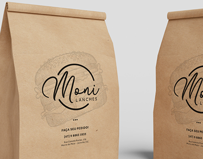 Moni Lanches - Branding