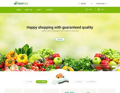 Farmface Ecommerce Website