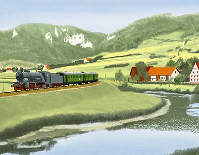 Express train near Neidinger Mill