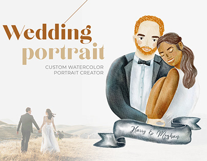 Custom Watercolor Wedding Portrait Creator