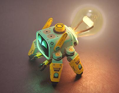 Cute Bot - Lampy