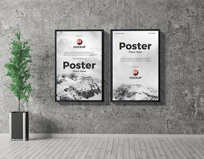 Free Interior Poster Mockup PSD