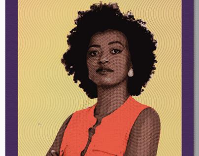 Political campaign arts for Aline Torres