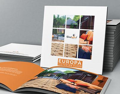 Europa - Brochure design for a designer tiles brand