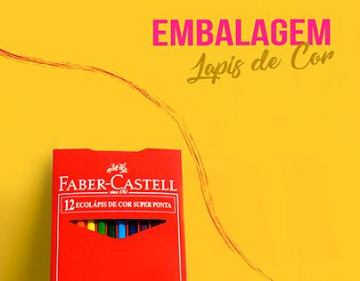 Embalagem para lápis de cor