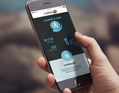 Mobile App - Les Défis Lait Choco