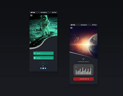 Space UI Concept | Rish Designs